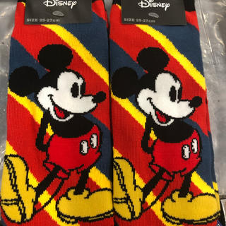 ディズニー(Disney)のミッキー  靴下 25-27 2足セット♡(ソックス)