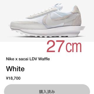 ナイキ(NIKE)のNike sacai LDV Waffle White 27.0(スニーカー)