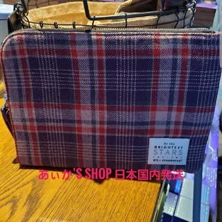 スターバックスコーヒー(Starbucks Coffee)のbts スターバックス コラボ タータンチェックポーチSmall 韓国スタバ(K-POP/アジア)