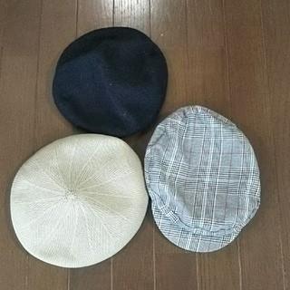 ザラ(ZARA)の●春に ベレー帽 三点セット!KBF&ZARA&GLOBAL WORK(ハンチング/ベレー帽)