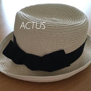 アクタス(ACTUS)のペーパーハット アクタス(麦わら帽子/ストローハット)