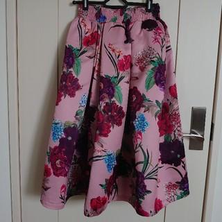 新品花柄スカートAラインZARAザラ海外セレクト(ひざ丈スカート)