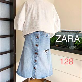 ZARA KIDS - ZARAキッズ☆ダメージ加工 デニムスカート♡オシャレ♪(*´꒳`*)
