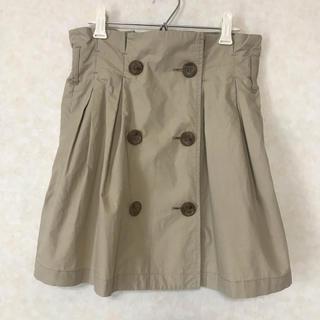 ヘザー(heather)のHeather トレンチ ミニスカート ヘザー ベージュ 巻きスカート(ミニスカート)