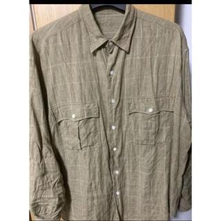 コモリ(COMOLI)のポータークラシック ロールアップシャツ リネン (シャツ)