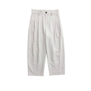 COMOLI - URU COTTON LINEN 2 TUCK PANTS