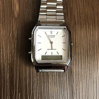オリエント(ORIENT)のCASIO 5154 チープカシオ 腕時計 シルバー アナログ デジタル(腕時計)