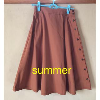 プラステ(PLST)のPLST  フレアスカート Mサイズ summer(ひざ丈スカート)