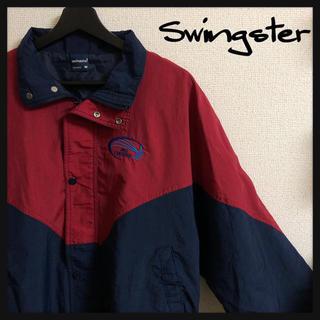 アートヴィンテージ(ART VINTAGE)のswingster/スウィングスター 刺繍ロゴ ラグラン ナイロンジャケット(ナイロンジャケット)