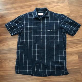 マックレガー(McGREGOR)のマックレガー 半袖シャツ チェック ネイビー 綿100%(シャツ)