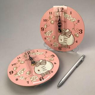 ハローキティ(ハローキティ)の小さめ ハローキティ 掛け時計セット(掛時計/柱時計)