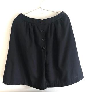 ムジルシリョウヒン(MUJI (無印良品))の無印 ウール混 スカート サイズ61  ダークネイビー(ひざ丈スカート)