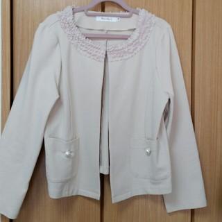 クチュールブローチ(Couture Brooch)のクチュールブローチ ベージュ ジャケット(ノーカラージャケット)