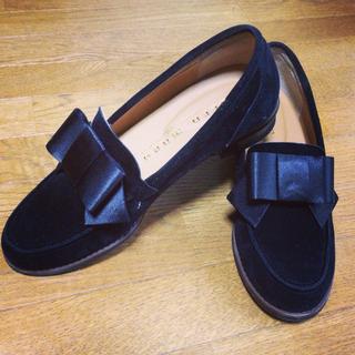 ディーホリック(dholic)のスウェットリボンフラットシューズ(ローファー/革靴)
