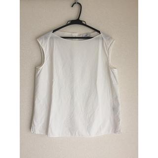 UNITED ARROWS - ユナイテッドアローズ 白 ノースリーブシャツ