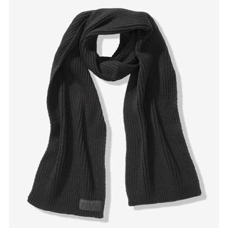 ヴィクトリアズシークレット(Victoria's Secret)の【新品】VS PINK ロゴ スカーフ 黒(マフラー/ショール)