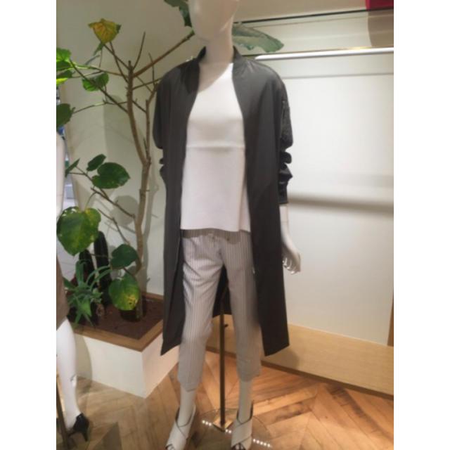 Mila Owen(ミラオーウェン)のロングMA-1落ち感コート レディースのジャケット/アウター(ロングコート)の商品写真