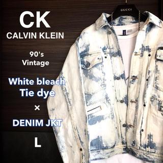カルバンクライン(Calvin Klein)の【激レア1点物】Calvin kleinホワイトブリーチデニムJKT【90's】(Gジャン/デニムジャケット)