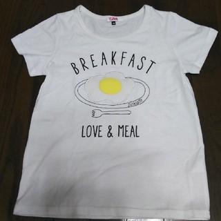 ピンクラテ(PINK-latte)のピンクラテ 目玉焼きのTシャツ150(Tシャツ/カットソー)