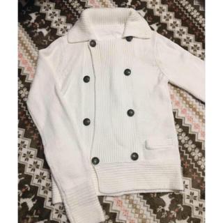サンタモニカ(Santa Monica)の古着 ニット 羽織り レトロ ニット 白ニット ニットカーディガン(カーディガン)