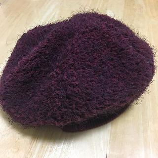 アクシーズファム(axes femme)のaxes femme ベレー帽 ワインレッド(ハンチング/ベレー帽)