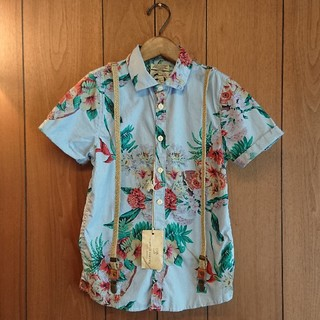 スコッチアンドソーダ(SCOTCH & SODA)の【新品タグ付き】SCOTCH SHRUNK 140 サスペンダー付きシャツ(Tシャツ/カットソー)
