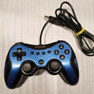 エレコム(ELECOM)のELECOM デジタルUSBゲームパット ブルー(その他)