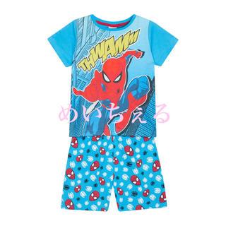 マーベル(MARVEL)の【新品】ブルー SpiderMan ショート丈パジャマ(ヤンガー) (パジャマ)