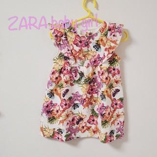 ザラキッズ(ZARA KIDS)の【92】ザラベビーガール 花柄 ワンピース(ワンピース)