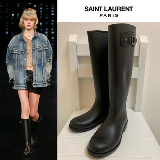 Saint Laurent - SAINT LAURENT PARIS 2016SS エディ期 レインブーツ