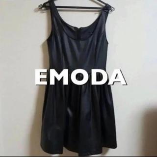 エモダ(EMODA)の【EMODA】レザーワンピース(ミニワンピース)