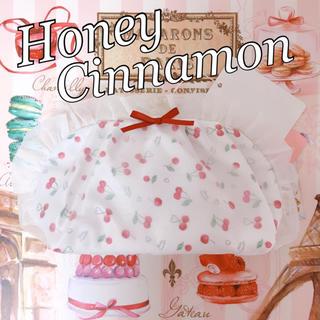 ハニーシナモン(Honey Cinnamon)のチェリー さくらんぼ フリル リボン ホワイト レッド 赤 ガーリー ロリィタ(ポーチ)