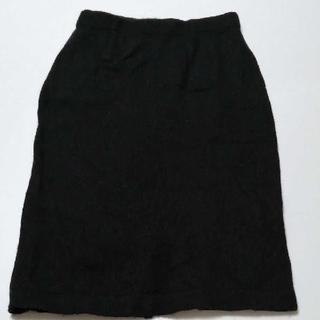 プラステ(PLST)のプラステ ひざ丈スカート ブラック(ひざ丈スカート)