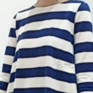 マリンフランセーズ(LA MARINE FRANCAISE)の青ボーダートップス(´∇`)(カットソー(長袖/七分))