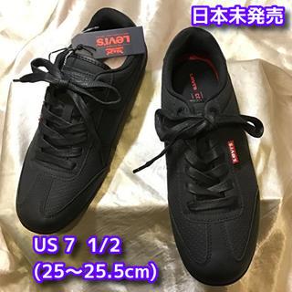 リーバイス(Levi's)のLevis Comfort スニーカー(黒)25.5cm 新品未使用 難あり(スニーカー)