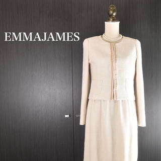 EMMAJAMES - 【美品】EMMAJAMES フォーマル ツイード セットアップ ワンピース