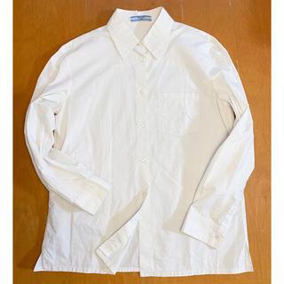 プラダ(PRADA)のプラダ PRADA オフホワイト シンプルシャツ(シャツ/ブラウス(長袖/七分))