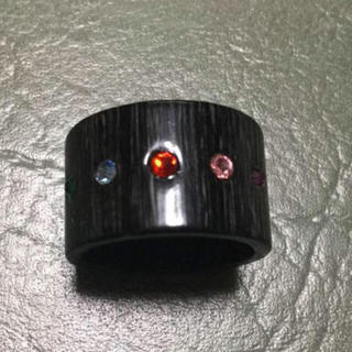 グランドキャニオン(GRAND CANYON)のGRAND CANYON GDC ブラックカラーストーンロゴ刻印五周年記念限定(リング(指輪))