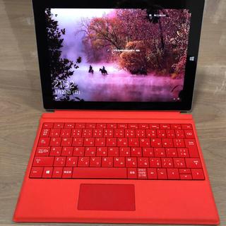 マイクロソフト(Microsoft)のsurface3 128GB 純正ペン・キーボード付き(ノートPC)