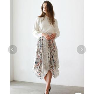 ラグナムーン(LagunaMoon)のラグナムーン フラワードットミックスプリーツスカート  (ロングスカート)
