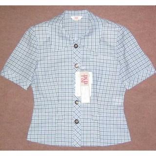 新品 5号  オフィスオーバーブラウス 事務服 OL制服 小さいサイズ(シャツ/ブラウス(半袖/袖なし))