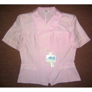 新品 7号 オフィスオーバブラウス 事務服 OL制服F322(シャツ/ブラウス(半袖/袖なし))