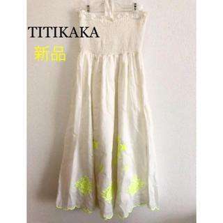 チチカカ(titicaca)のTITIKAKA刺繍ワンピース(ひざ丈ワンピース)