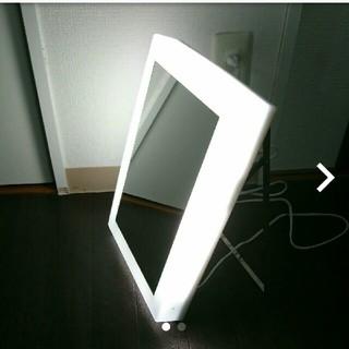 ムジルシリョウヒン(MUJI (無印良品))の無印  LEDライト付きミラー(卓上ミラー)