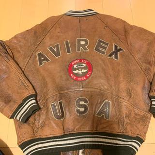 アヴィレックス(AVIREX)のavirex スタジャン レザー ジャケット ジャンバー ロゴ 80s(スタジャン)