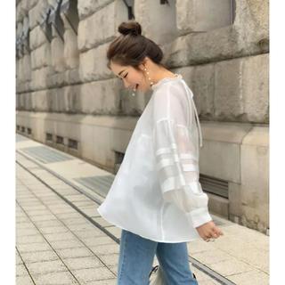 hyeon ヘヨン sheer cloudy blouse ブラウス(シャツ/ブラウス(長袖/七分))
