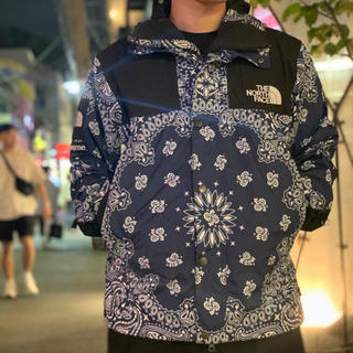 ザノースフェイス(THE NORTH FACE)の14AW supreme  the north face bandana M(マウンテンパーカー)