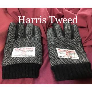 ハリスツイード(Harris Tweed)のハリスツイード  レディース 手袋 Harris Tweed 黒 ブラック(手袋)