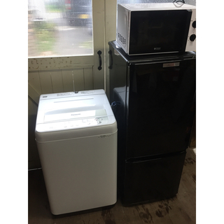 Panasonic - 激安 デザイン◎  3点セット パナソニック 洗濯機 三菱 冷蔵庫 電子レンジ