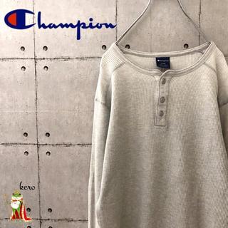 チャンピオン(Champion)の【人気】チャンピオン ヘンリーネック ワッフル サーマル ロンT(Tシャツ/カットソー(七分/長袖))